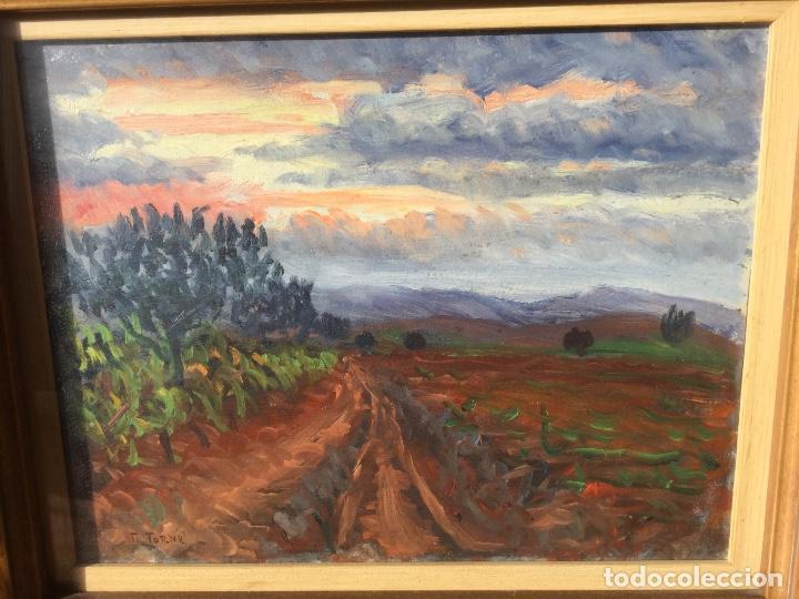 Arte: Óleo con paisaje de TRINITAT TORNÉ PUJOL (Barcelona 1879-1945) - Foto 6 - 147734990