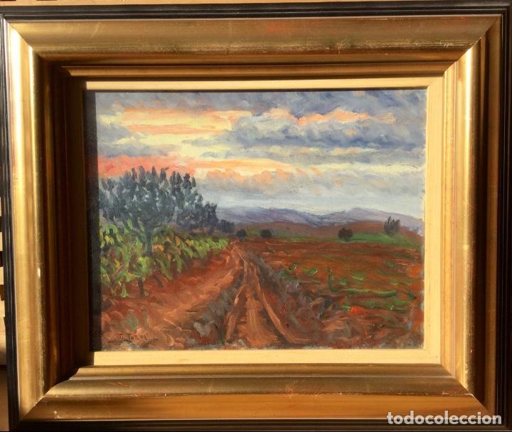 Arte: Óleo con paisaje de TRINITAT TORNÉ PUJOL (Barcelona 1879-1945) - Foto 10 - 147734990