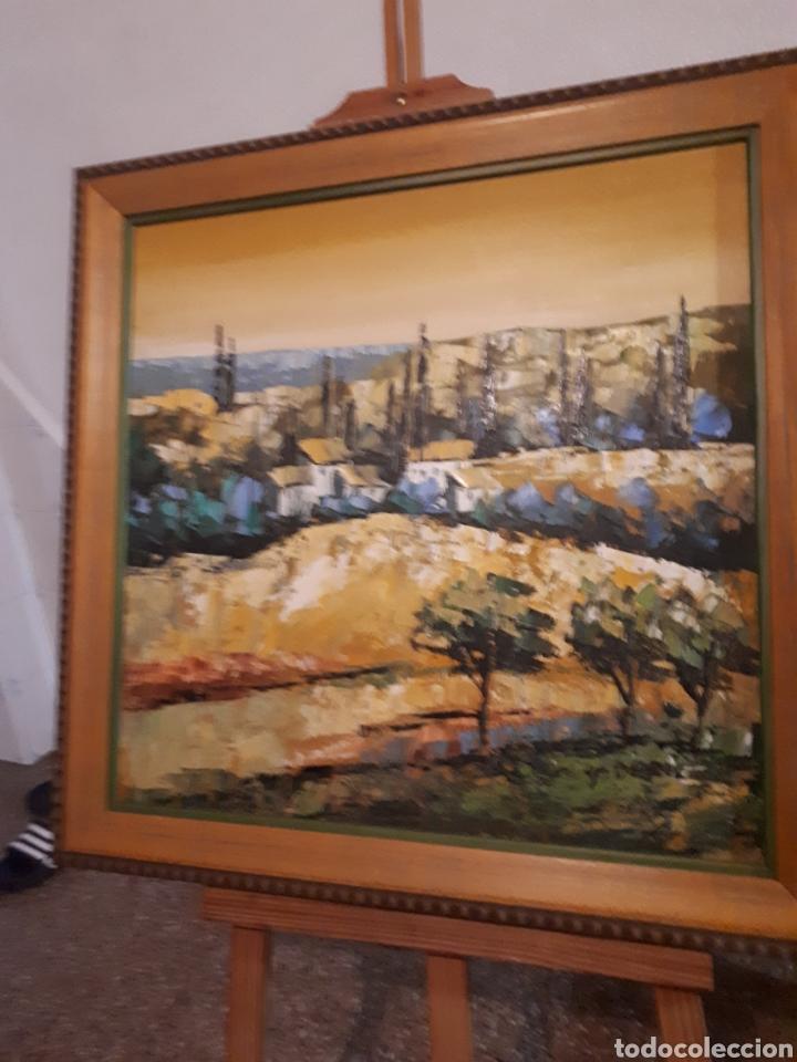 Arte: Cuadro pintado a mano sobre lienzo firmado y.deril - Foto 2 - 147736214