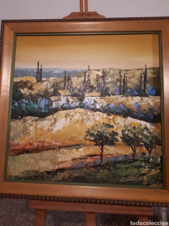 Arte: Cuadro pintado a mano sobre lienzo firmado y.deril - Foto 3 - 147736214
