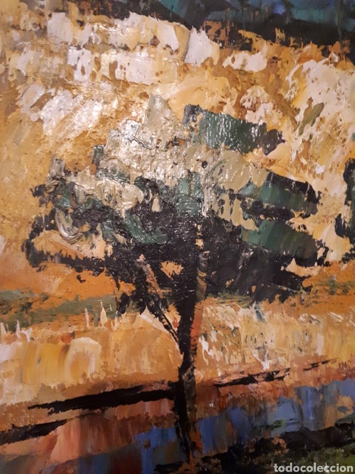 Arte: Cuadro pintado a mano sobre lienzo firmado y.deril - Foto 4 - 147736214