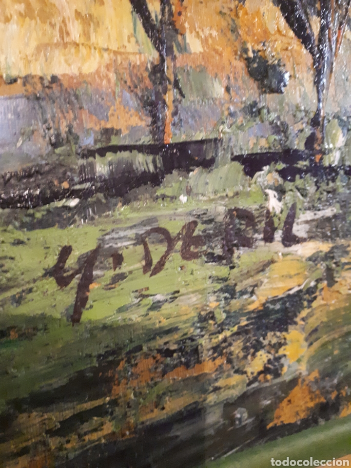 Arte: Cuadro pintado a mano sobre lienzo firmado y.deril - Foto 5 - 147736214