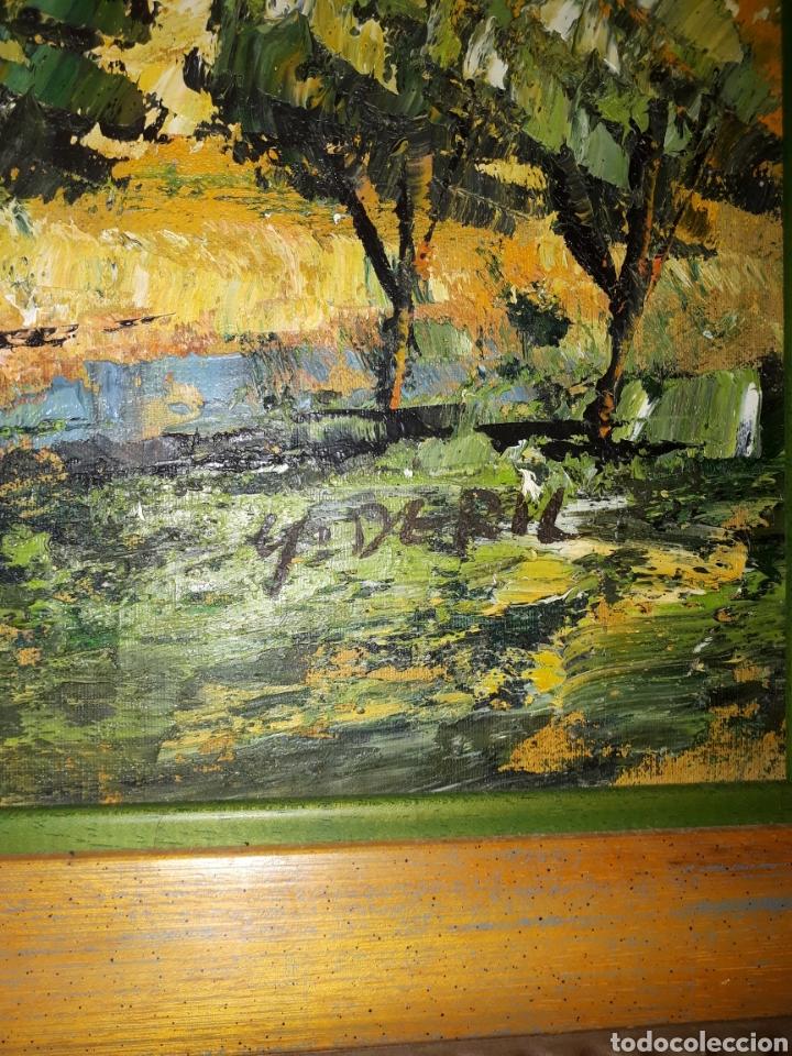 Arte: Cuadro pintado a mano sobre lienzo firmado y.deril - Foto 6 - 147736214