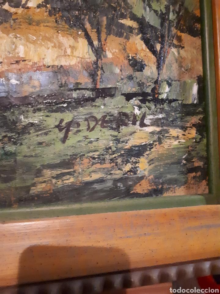 Arte: Cuadro pintado a mano sobre lienzo firmado y.deril - Foto 8 - 147736214