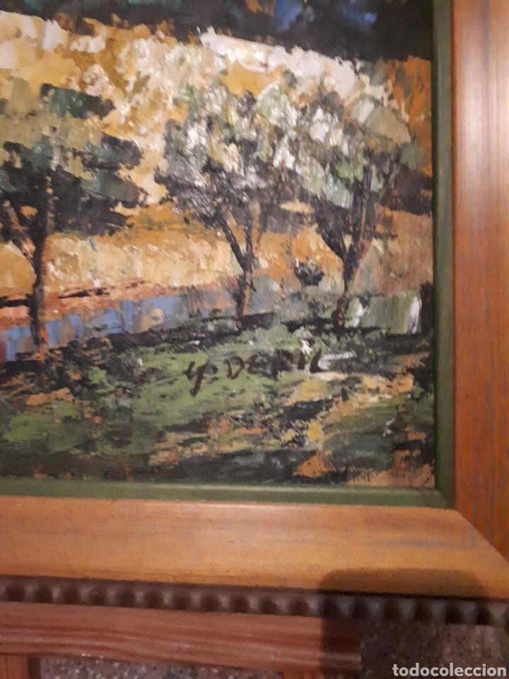 Arte: Cuadro pintado a mano sobre lienzo firmado y.deril - Foto 9 - 147736214
