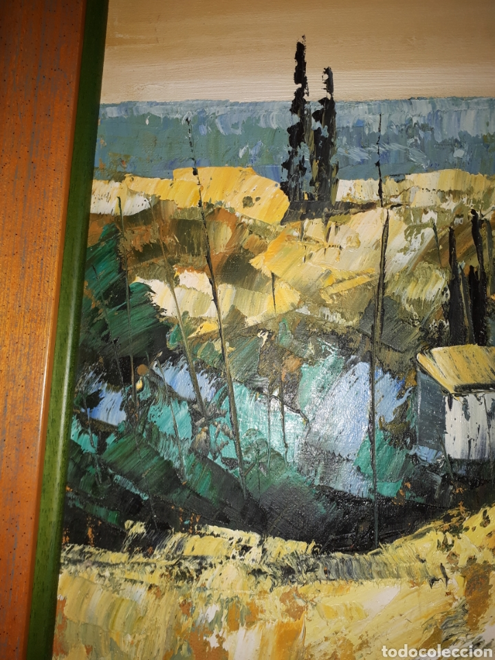 Arte: Cuadro pintado a mano sobre lienzo firmado y.deril - Foto 10 - 147736214