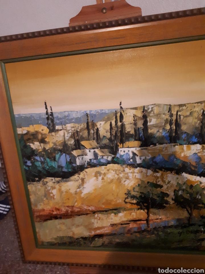 Arte: Cuadro pintado a mano sobre lienzo firmado y.deril - Foto 12 - 147736214