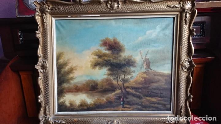 ANTIGUO OLEO SOBRE LIENZO PAISAJE (Arte - Pintura - Pintura al Óleo Moderna sin fecha definida)
