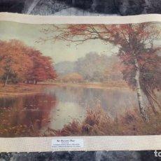 Arte: IMPRESIÓN - PAISAJE AL ÓLEO EN LIENZO - AN AUTUMN DAY - KILLARNEY - EDWARD WILKINS WAITE (1854-1924). Lote 147783710