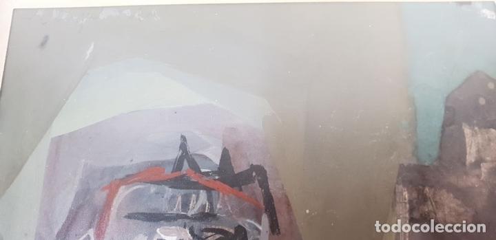 Arte: RETRATO ABSTRACTO. ÓLEO SOBRE CARTONÉ. FERNANDO MIGNONI. SIGLO XX. - Foto 3 - 147800386