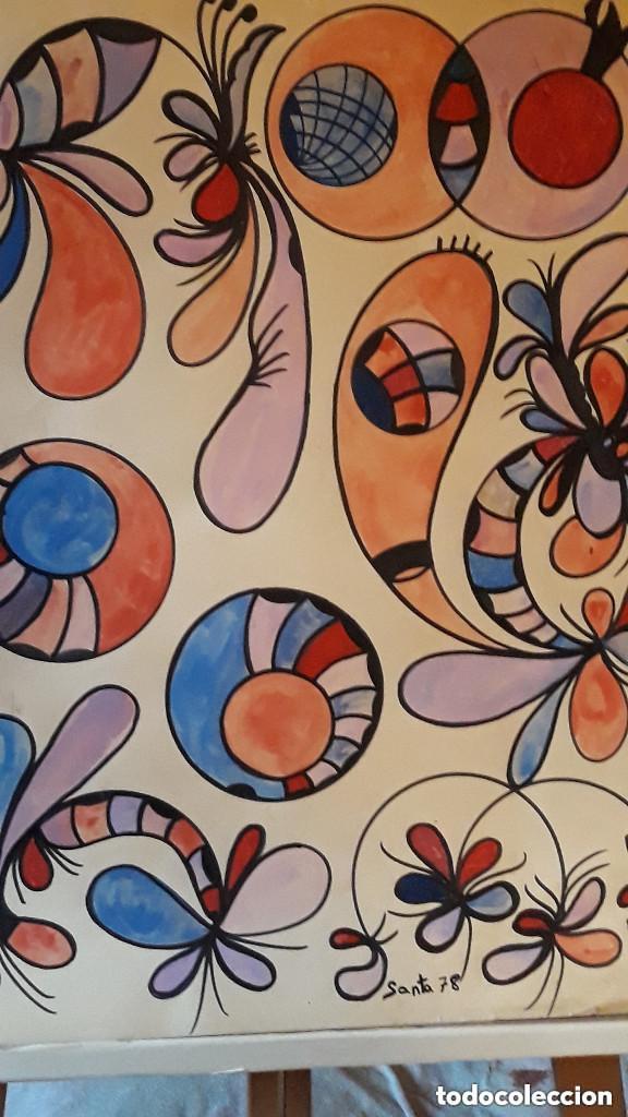 ABSTRACTO SOBRE CARTULINA ( SIN MARCO )( SANTA) N 0016 CON LA COMPRA DE 5 CARTULINAS ABSTRACTA 1 DE (Arte - Pintura Directa del Autor)