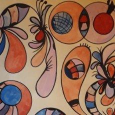 Arte: ABSTRACTO SOBRE CARTULINA ( SIN MARCO )( SANTA) N 0016. Lote 147870842