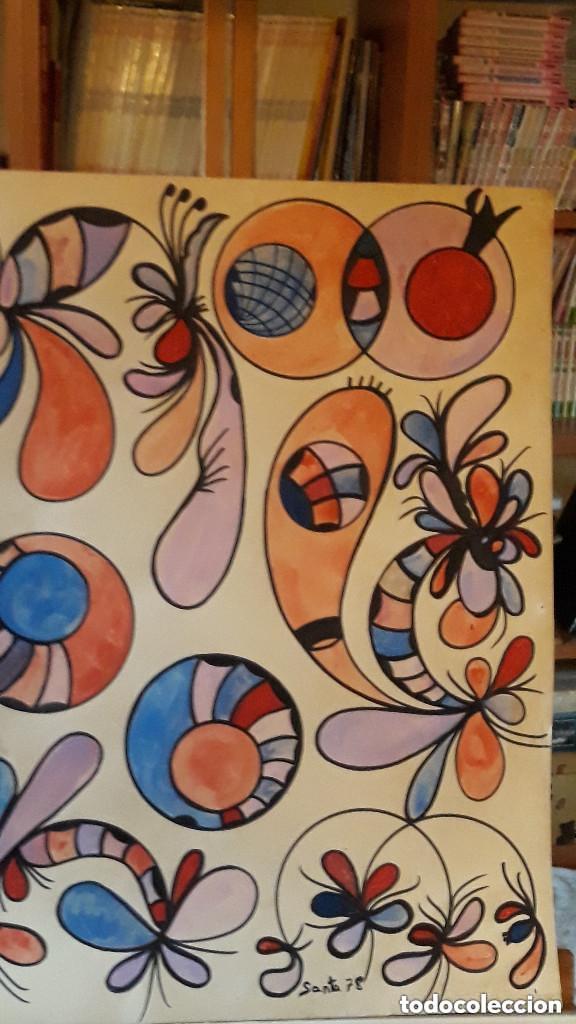 Arte: ABSTRACTO sobre Cartulina ( SIN MARCO )( SANTA) n 0016 CON LA COMPRA DE 5 CARTULINAS ABSTRACTA 1 DE - Foto 3 - 147870842