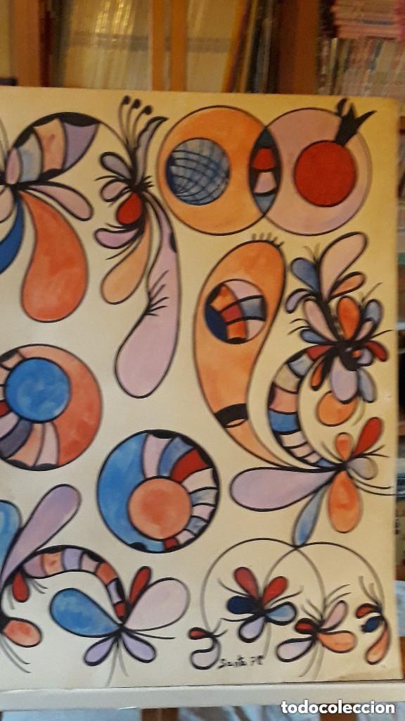 Arte: ABSTRACTO sobre Cartulina ( SIN MARCO )( SANTA) n 0016 CON LA COMPRA DE 5 CARTULINAS ABSTRACTA 1 DE - Foto 5 - 147870842