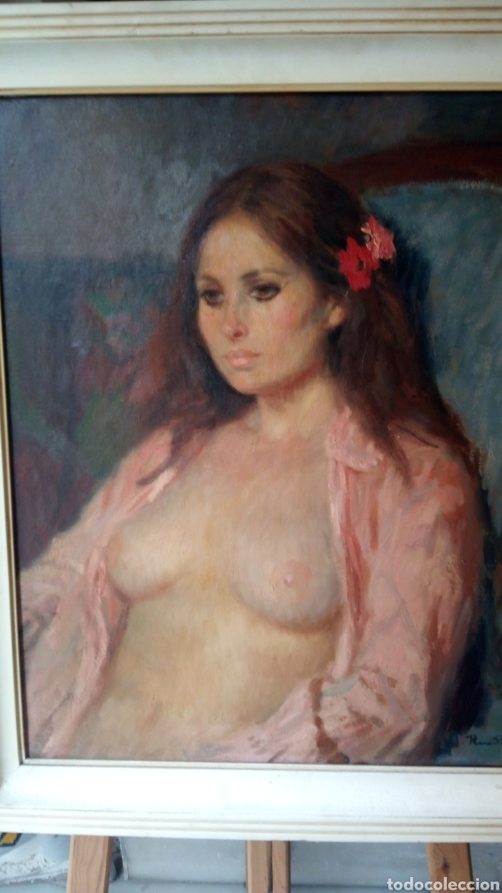 ESPECTACULAR ÓLEO SOBRE LIENZO,DESNUDO FEMENINO , FIRMADO RAMÓN PICHOT SOLER (FIGUERAS 1924-1987) (Arte - Pintura - Pintura al Óleo Moderna sin fecha definida)