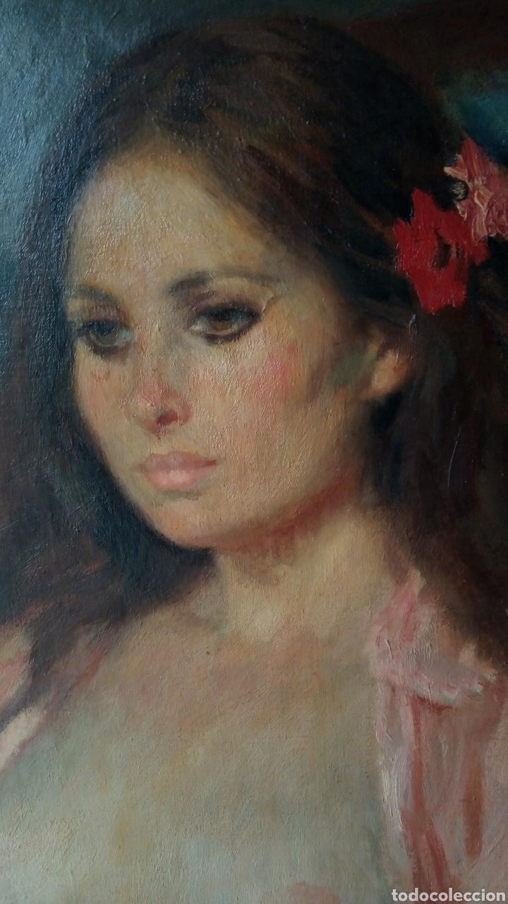 Arte: Espectacular óleo sobre lienzo,desnudo femenino , firmado Ramón Pichot Soler (Figueras 1924-1987) - Foto 2 - 147872700
