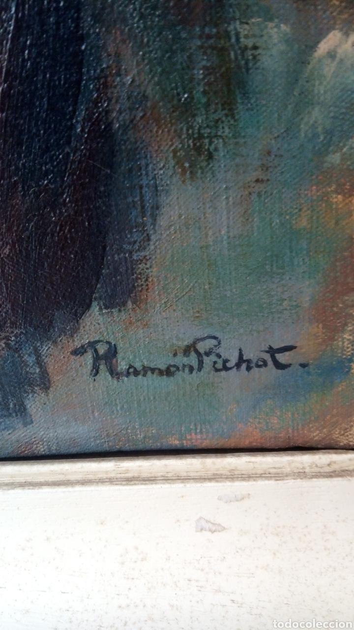 Arte: Espectacular óleo sobre lienzo,desnudo femenino , firmado Ramón Pichot Soler (Figueras 1924-1987) - Foto 5 - 147872700