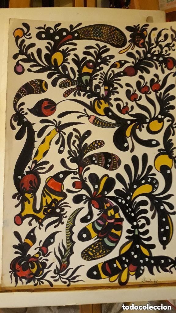 ABSTRACTO CARTULINA ( SIN MARCO ) , SANTA) N001 CON LA COMPRA DE 5 CARTULINAS ABSTRACTA 1 DE REGALO (Arte - Pintura Directa del Autor)