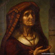 Arte: ANTIGUA PINTURA ITALIANA RETRATO DEL SIGLO XIX.. Lote 147880778