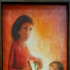 Arte: RENÉ CAZASSUS (FRANCIA 1932), PRECIOSA PINTURA ORIGINAL FIRMADA.. Lote 147906888
