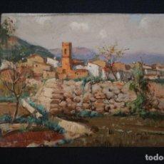 Arte: JUAN LLUNA LERMA,( GODELLA - VALENCIA,1933 ) OLEO/ TABLA. CALLES DE VALENCIA.. Lote 147909974