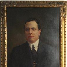 Arte: ÓLEO CON RETRATO MASCULINO (53X 73CM )DEL PINTOR JOSÉ MARIA MARQUÉS GARCÍA (1862-1936). Lote 147912878