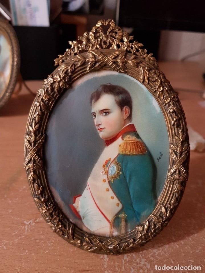 Arte: Napoleón. Espectacular pintura en miniatura del siglo XIX. - Foto 2 - 147917074
