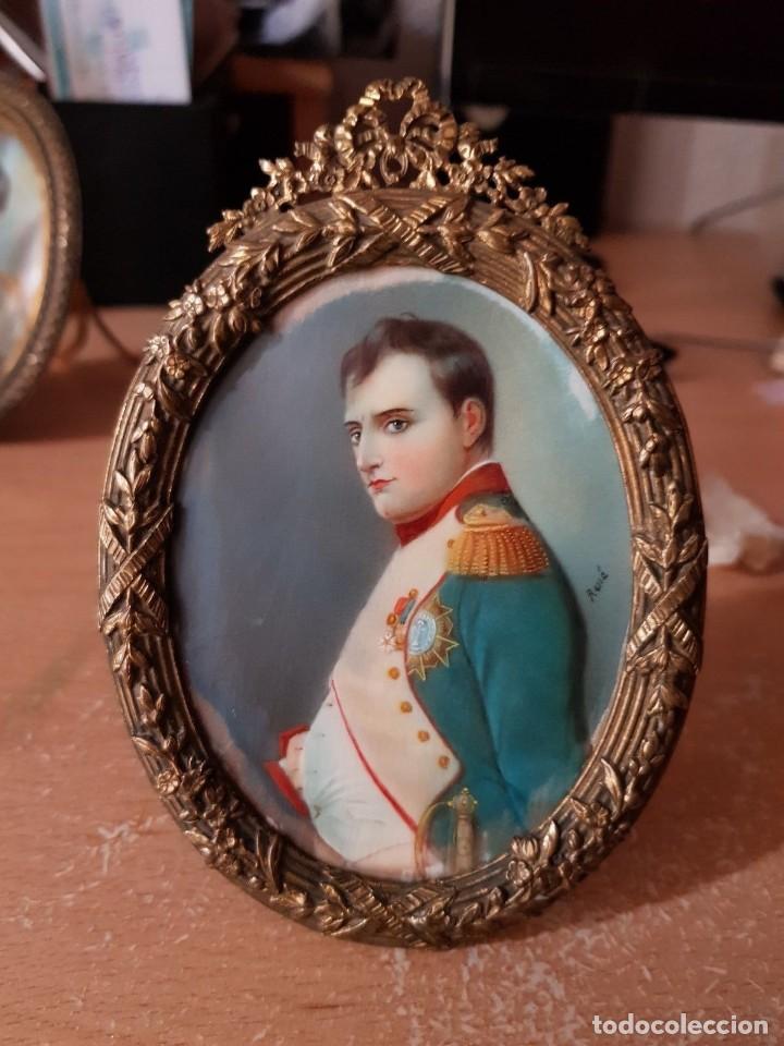 Arte: Napoleón. Espectacular pintura en miniatura del siglo XIX. - Foto 3 - 147917074