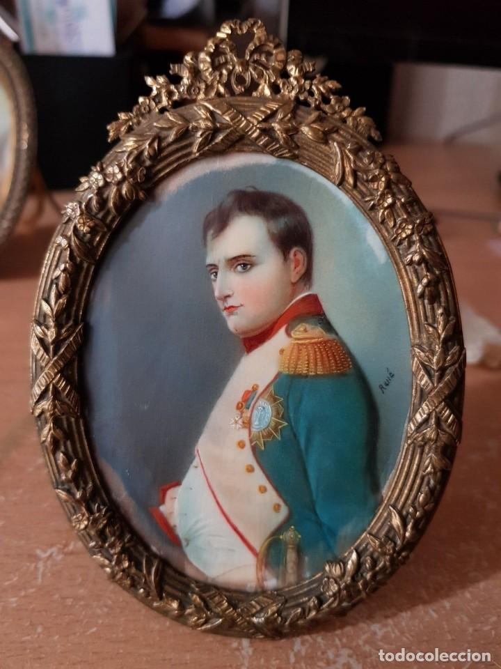 Arte: Napoleón. Espectacular pintura en miniatura del siglo XIX. - Foto 4 - 147917074