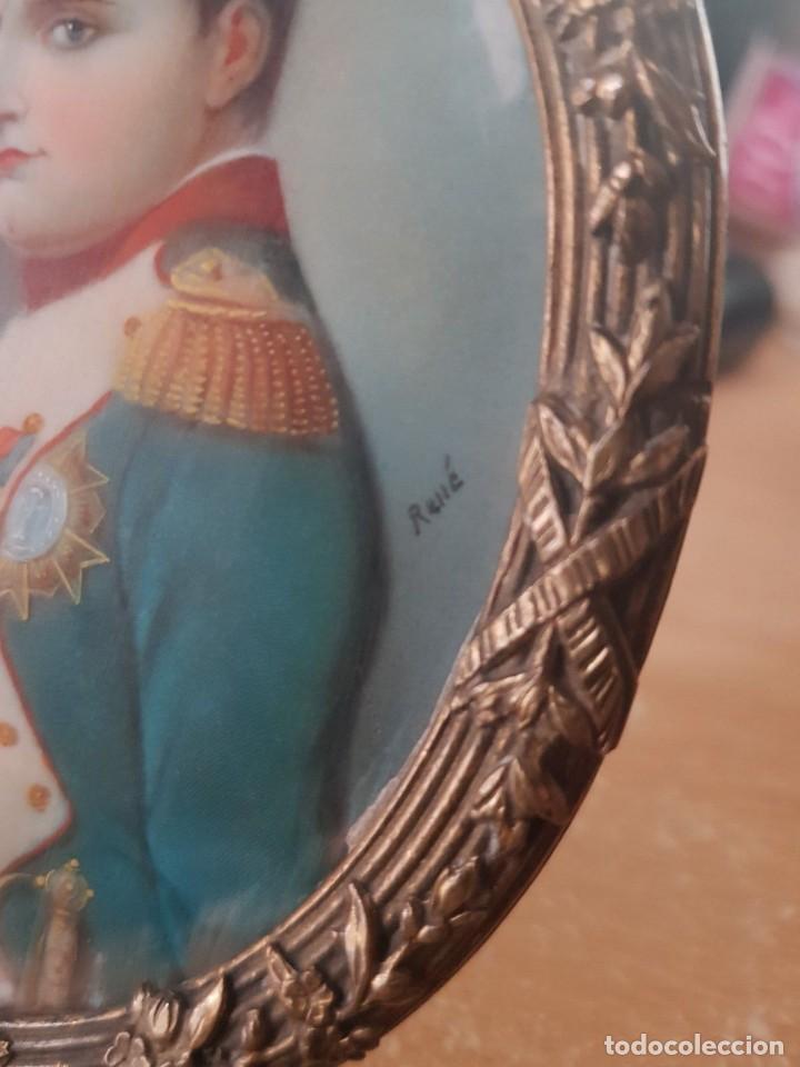 Arte: Napoleón. Espectacular pintura en miniatura del siglo XIX. - Foto 5 - 147917074