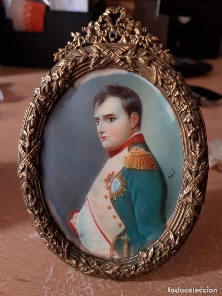 Arte: Napoleón. Espectacular pintura en miniatura del siglo XIX. - Foto 8 - 147917074