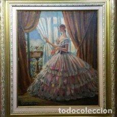 Arte: EXCEPCIONAL ÓLEO CON ESCENA COSTUMBRISTA DE PERE CASAS ABARCA (BARCELONA 1875-1958). Lote 147917110