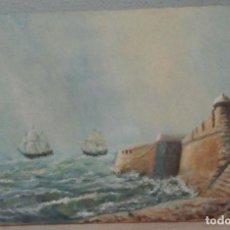 Arte: MARINA DE CÁDIZ II. ÓLEO SOBRE LIENZO 55X33.. Lote 147952470