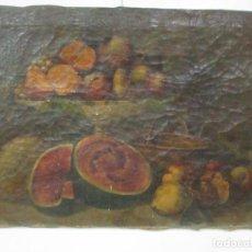 Arte: ANTIGUO BODEGÓN - ÓLEO SOBRE TELA - ESCUELA ESPAÑOLA - ANÓNIMO - S. XVIII. Lote 147960986