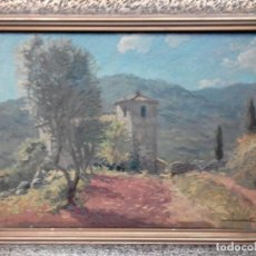 Arte: ÓLEO DEL MAGNÍFICO CARTELISTA Y PINTOR JOSEP ALUMÀ I SANS (BCN1897-1974) PADRE DE JORDI ALUMÀ. Lote 148007510