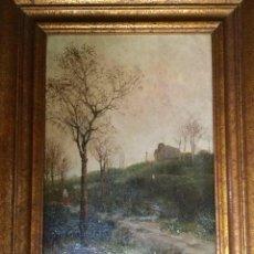 Arte: MÁGNIFICO PAISAJE DE MODEST URGELL I INGLADA(BARCELONA 1839-1919). Lote 148010082
