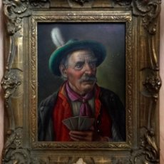Arte: WALTER ROESSLER (ALEMANIA 1893-1960) RETRATO MASCULINO JUGANDO A LAS CARTAS VENDIDO EN CRISTIES 1991. Lote 148010910