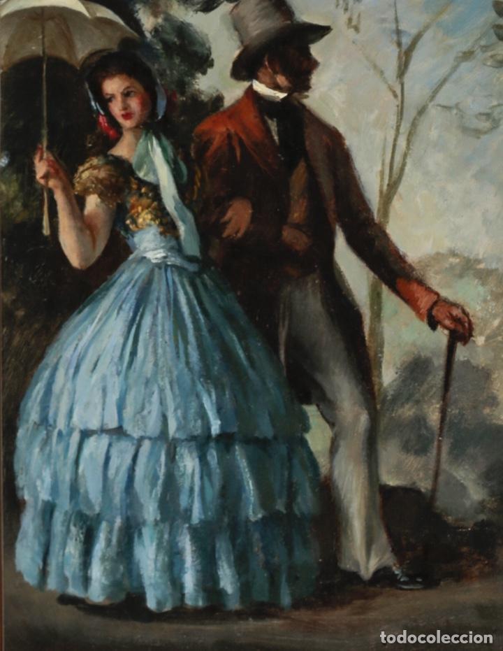 LLUIS MUNTANÉ MUNS (MATARÓ 1899-BARCELONA 1987) MAGNÍFICO ÓLEO CON ESCENA COSTUMBRISTA DEL MAESTRO (Arte - Pintura - Pintura al Óleo Moderna siglo XIX)