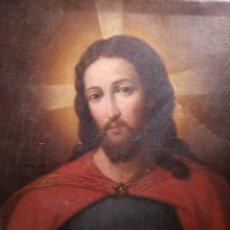 Arte: OLEO SOBRE LIENZO. SAGRADO CORAZÓN DE JESUS. PRINCIPIOS SIGLO XIX. Lote 148041314