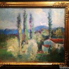 Arte: PAISAJE OLOTINO POR DOMENEC CARLES (1888-1962). Lote 148059336