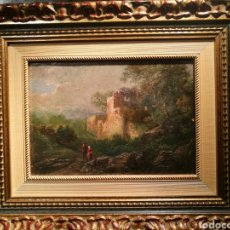 Arte: PAREJA DE PAISAJES POR ENRIC FERAU (1825-87). Lote 148060658