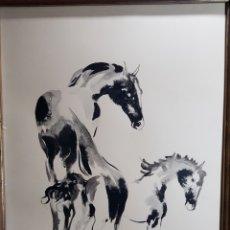 Arte: PAREJA MATERNIDAD EQUINA POR JOSEP MIQUEL SERRANO SERRA. Lote 131635497