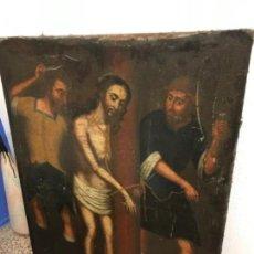 Arte: ÓLEO SIGLO XVII CRISTO DE LA COLUMNA FLAGELADO. Lote 148103886