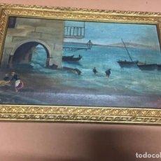 Arte: OLEO DE PESCADORES SIGLO XIX O XX. Lote 148164402