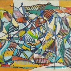 Arte: ABSTRACTO. ÓLEO SOBRE LIENZO. FIRMADO ENRIQUEZ. 1978.. Lote 148170570