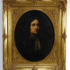 Arte: JOHN RILEY (1646-1691) ÓLEO SOBRE LIENZO RETRATO DE CABALLERO FIRMADO EN REVERSO. Lote 148186082