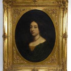 Arte: JOHN RILEY (1646-1691) ÓLEO SOBRE LIENZO RETRATO DE DAMA FIRMADO EN REVERSO. Lote 148186086