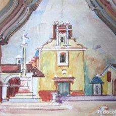 Arte: AZULEJO PINTADO IGLESIA SAN ROQUE BURJASSOT VALENCIA VICENTE ESPINOSA CARPIO PREMIO NACIONAL . Lote 148188858