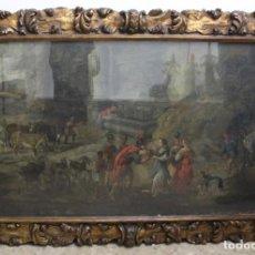 Arte: A- 278. OLEO SOBRE LIENZO, CIUDAD DE ROMA. S.XVIII. . Lote 148193614
