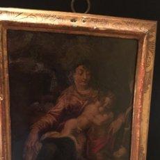 Arte: PINTURA OLEO SOBRE COBRE ESTILO RAFAELISTA S.XVIII. Lote 148228198